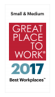 We're proud to be named on Great Places to Work & Fortune Magazine Best Workplaces for SMB Companies